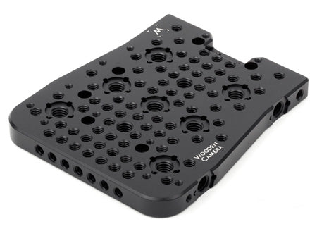 top mounting front cheeseplate for the panasonic varicam 35 camera