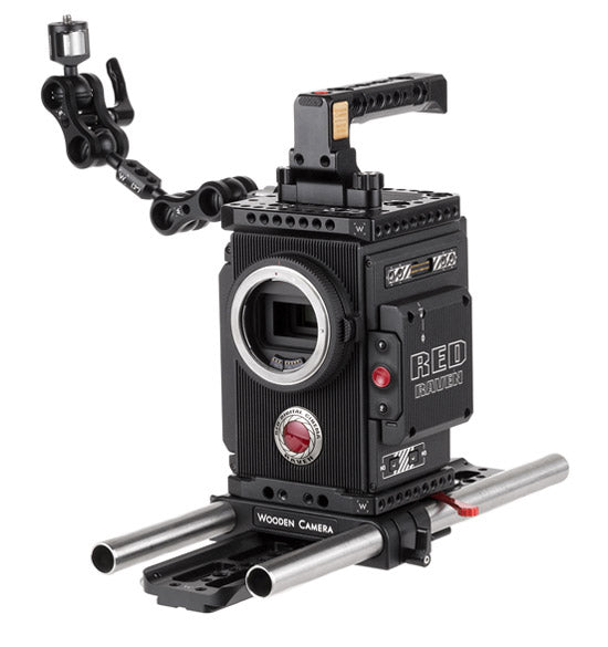 professional 19mm red weapon and red dsmc2 camera support kit & accessories from wooden camera