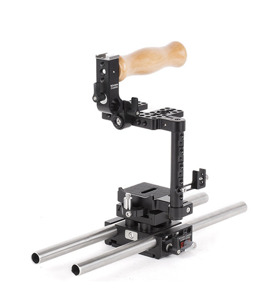 basic canon t7i & canon t6i dslr camera support package & accessories from wooden camera