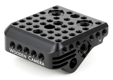 top mounting cheese plate for the canon c300 mark ii camera