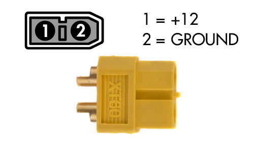 xt-60 female power cable connector