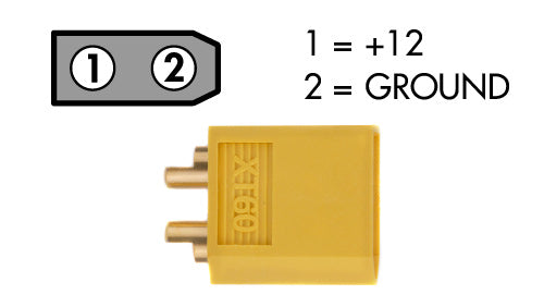 xt-60 male power cable connector