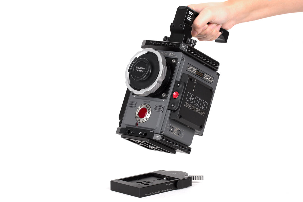 Mini Touch and Go Plate Only (80mm Oconnor Euro, Sachtler 16, Ronford Baker Mini-RBQ Compatible)