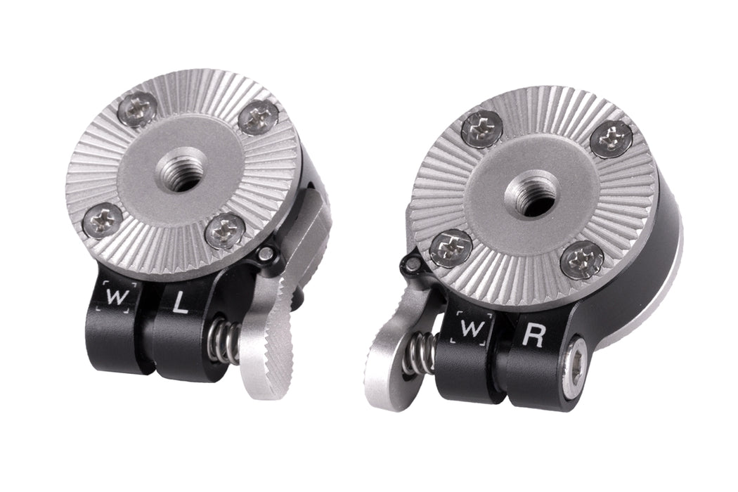 Push Button ARRI Rosette Set of Two (One Right, One Left)