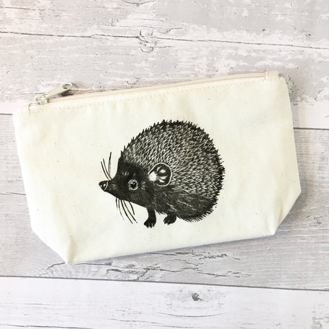 Hedgehog print cotton wash bag