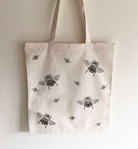 Bumble bee tote bag - Bee print, bee gifts