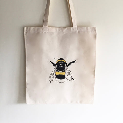 Bumble bee Tote bag, Bee print