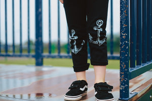 Anchor leggings kids