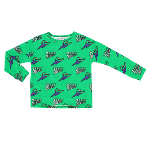 Jelly Alligator Green Long Sleeve Tee