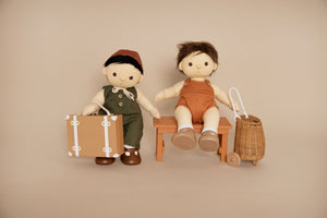 Dinkum dolls travel tog, Rust, Dolls dress up, See ya suitcase