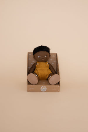 Black kids doll baby, dinkum doll, tiny