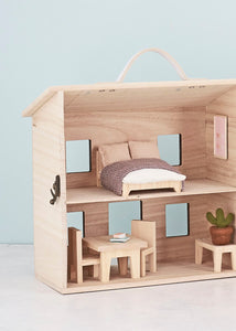 Kids doll house furniture, olli ella holdie double bedroom
