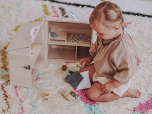 Dolls house furniture, Olli Ella Holdie, bedroom Set, kids toys