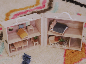 Doll house furniture, kids dollhouse, living room, Olli Ella, Holdie
