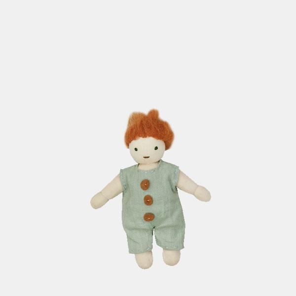 Kids holdie doll, ginger, boy doll, olli ella