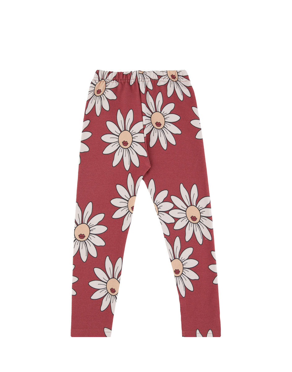 Red Daisy Leggings- Dear Sophie