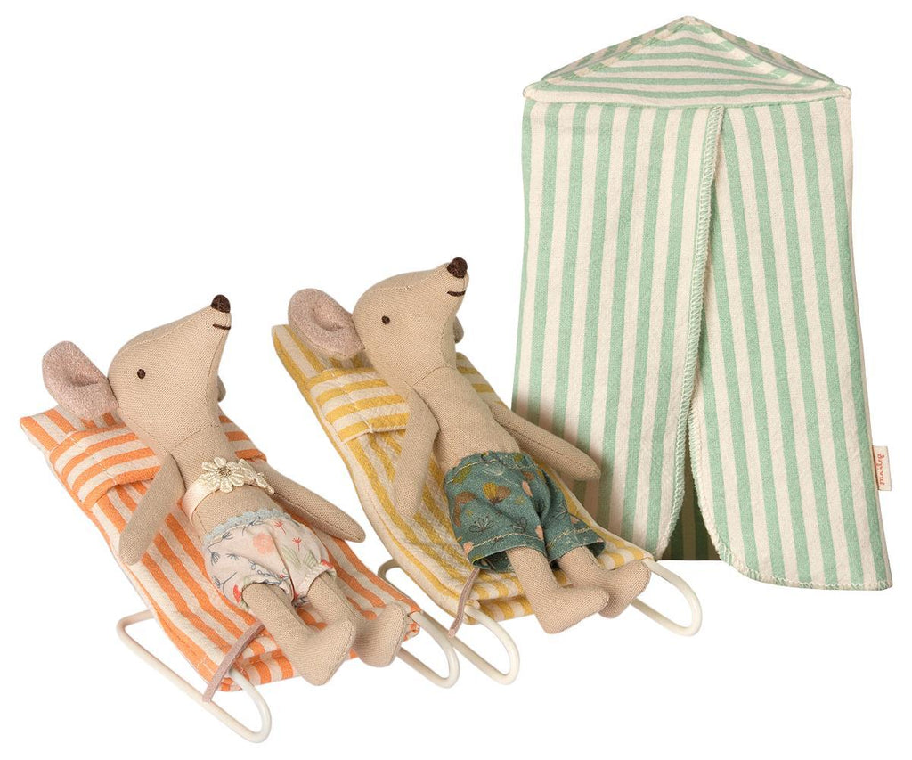 Vacation, holiday, maileg mice, beach kids toys