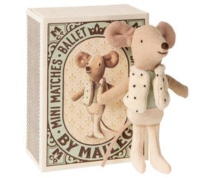 Dancer in matchbox, Little brother mouse - Maileg