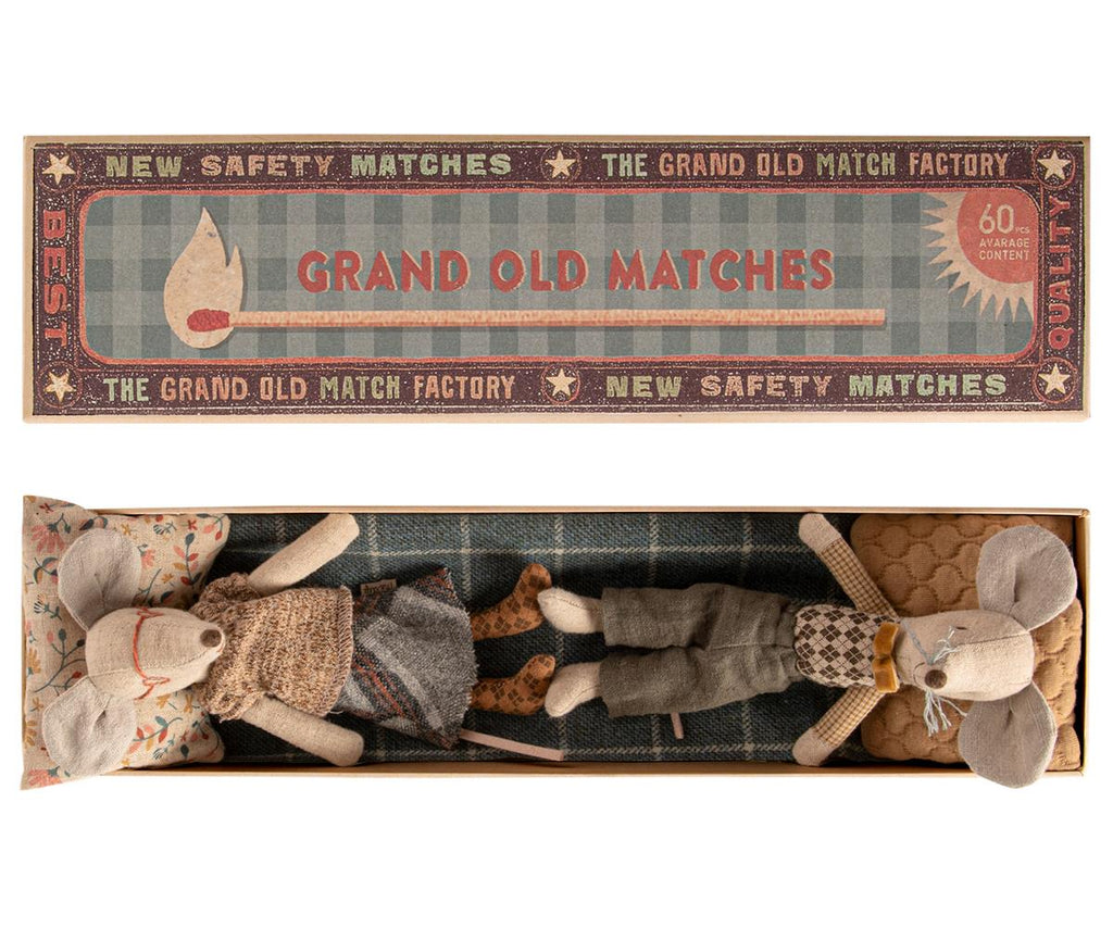 Grandma & Grandpa Mice in Matchbox- Maileg