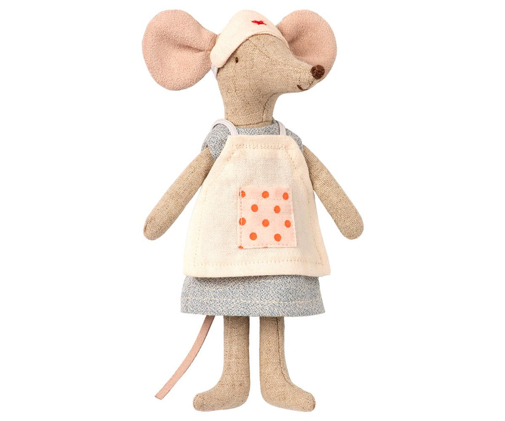 nurse maileg mouse, imaginative play doll, kids toys