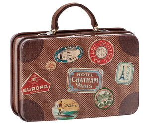 Metal brown suitcase, kids toys, Maileg