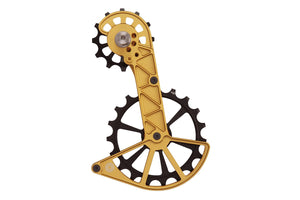 Kolossos Oversized Derailleur Cage for Shimano Dura Ace R9100 and Ultegra R8000 - Midas Gold
