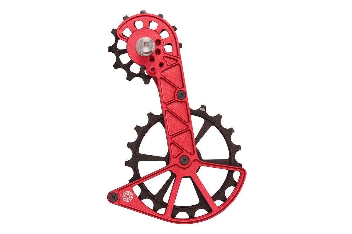 Kolossos Oversized Derailleur Cage for Shimano Dura Ace R9100 and Ultegra R8000  - Fire-Engine Red