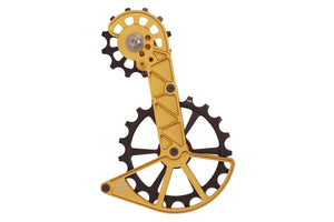 Kolossos Oversized Derailleur Cage for Shimano GRX and Ultegra RX800 - Midas Gold