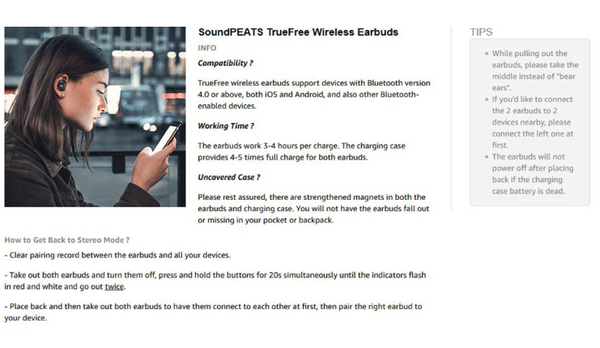 Soundpeats Earbuds Wireless Bluetooth