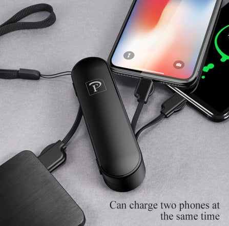 Portable travel USB Charger Cable for iPhone Android