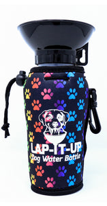 Lap-It-Up Dog Water Bottle - Paws