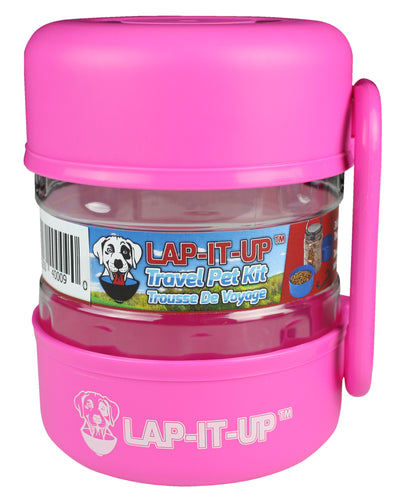 Lap-It-Up Pet Travel Kit - Pink