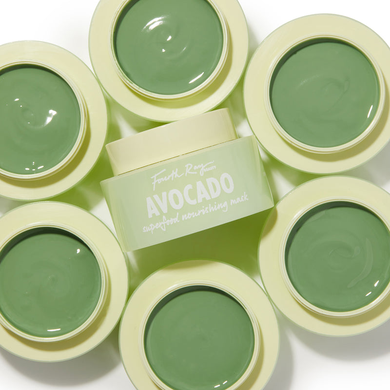 Fourth Ray Beauty Avocado Superfood Nourishing Mask, power packed with vitamins, minerals and antioxidants Infused with greens, avocado, matcha and kale to nourish, soften and replenish skin