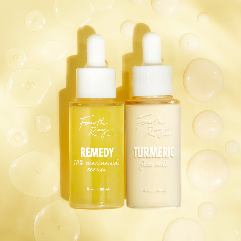 Revive Brightening set with Remedy Serum and Turmeric Face Milk Moisturizer