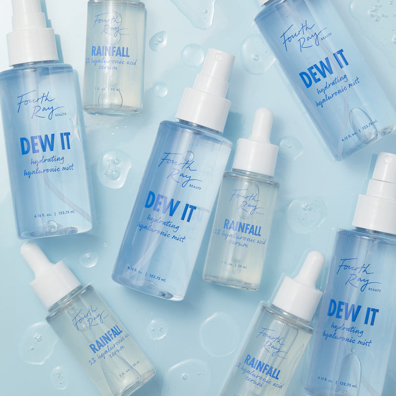 Keep your skin hydrated with the Skin Quenchers duo. Rainfall 2% hyaluronic acid serum instantly drenches skin with hydration.