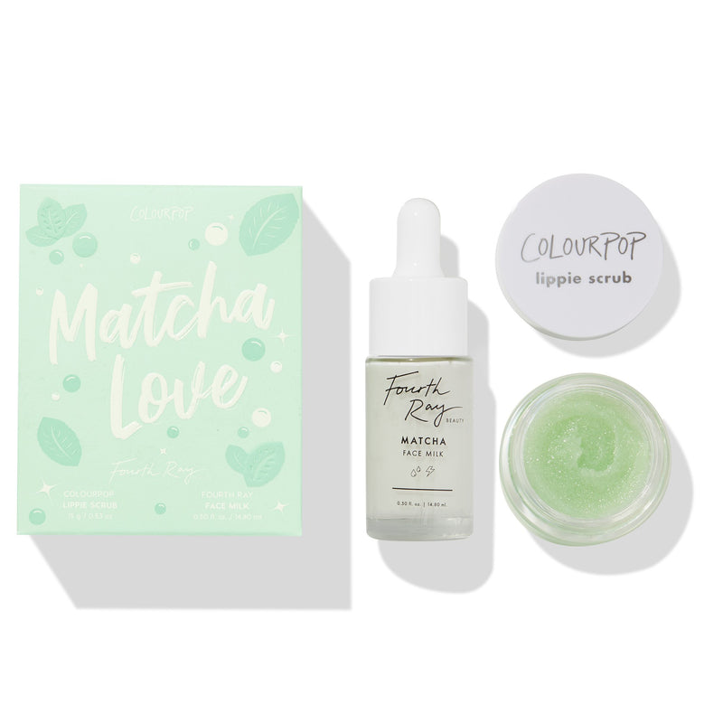 ColourPop Matcha Love Lip Scrub & Face Milk Kit Lip Exfoliation with a drop of moisture from Fourth Ray Beauty