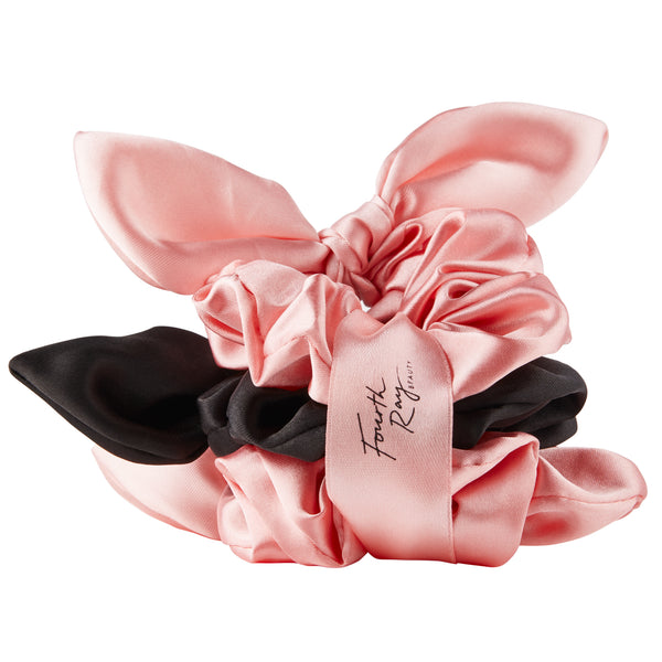 Pink + Black Scrunchies