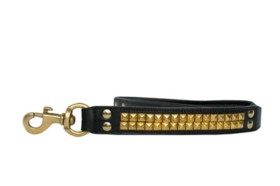 Clark Addition Black & Gold Genuine Leather Leash