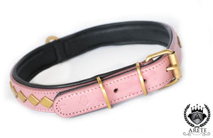 Pink & Gold Slim Dog Collar