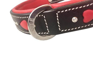 Arete - Queen of Hearts Collar - Genuine Leather
