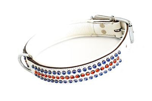 Royal Blue & Rose Stone Dog Collar