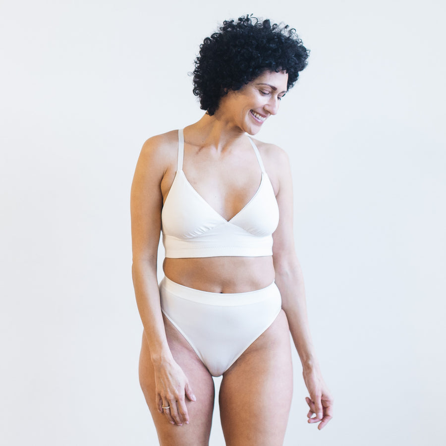 Cotton Plunge Pocketed Bra