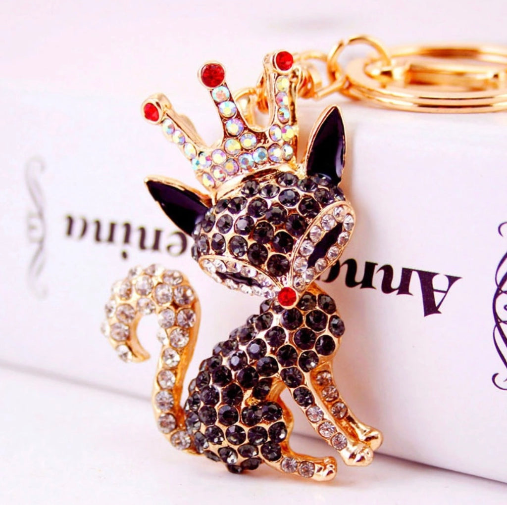 Black Princess Purse Charm Keychain