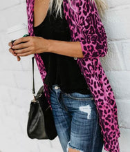 Pink Animal Print Jacket Topper Cover Up