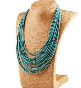Genuine Turquoise Multi Layer Necklace