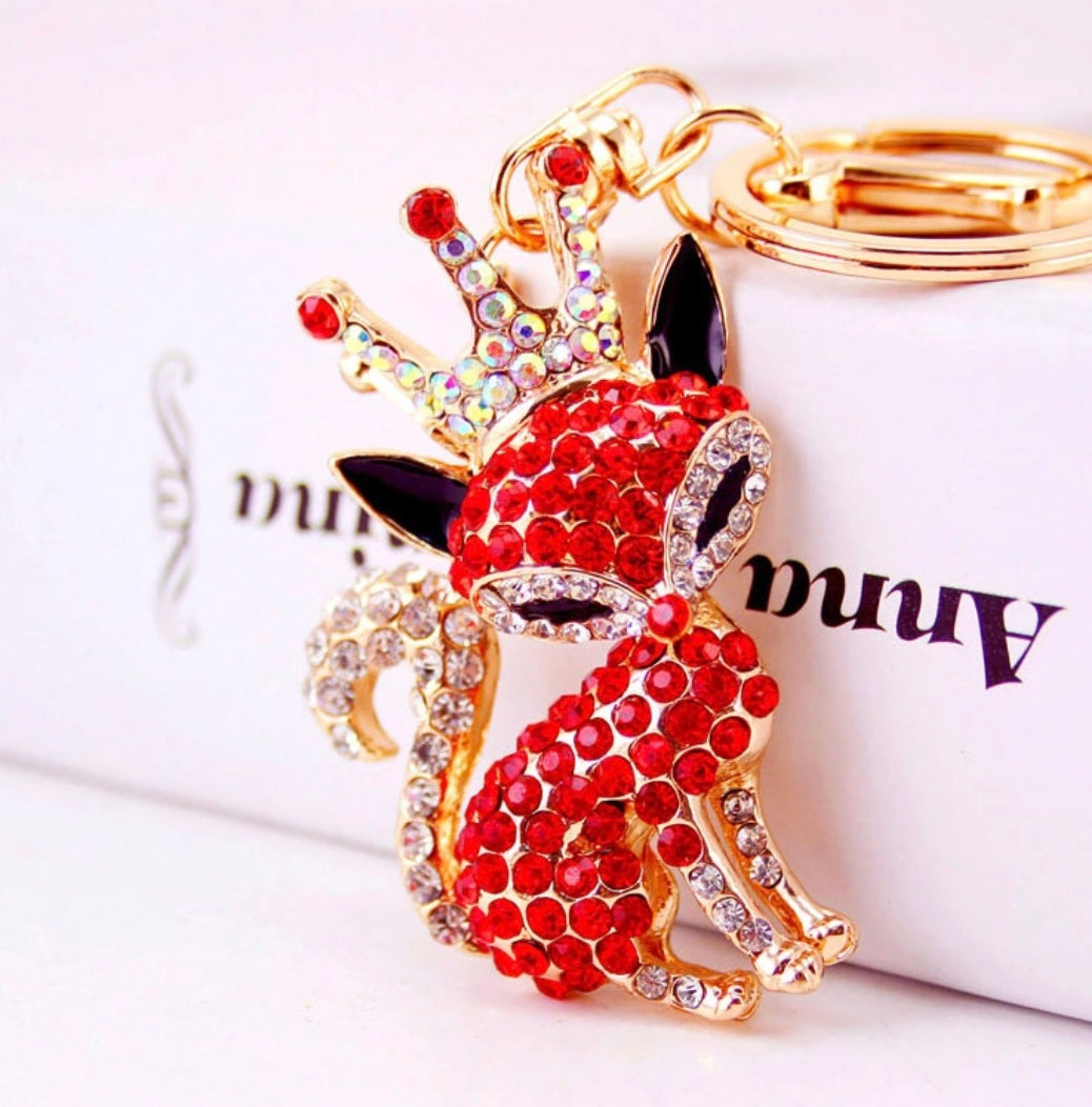 Red Princess Purse Charm Keychain