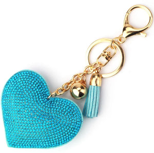 Blue Heart Purse Charm Keychain
