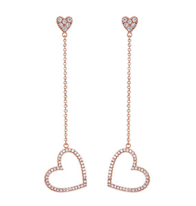 Swarovski Floating Love Heart Earrings