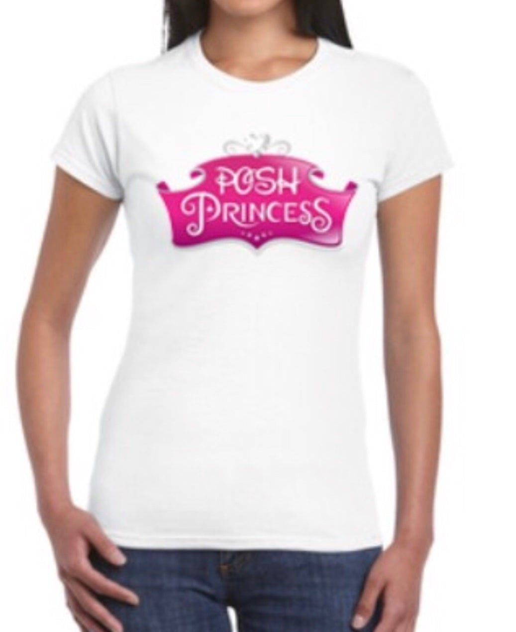 Posh Princess T Shirt Tee Top White