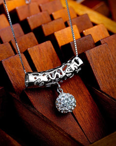 Solid Sterling Silver Swarovski Trapeze Necklace